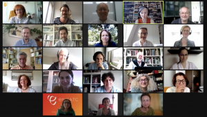 Screenshot of the first meeting of CHARTER leaders and co-leaders with the Expert Advisory Board